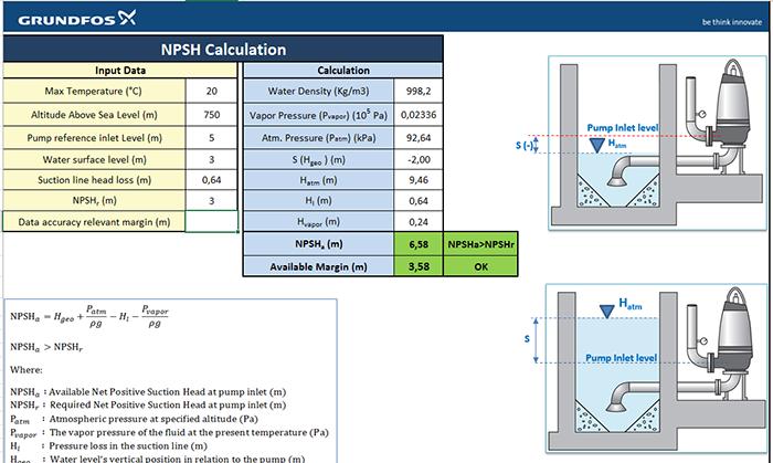 NPSH Калкулатор